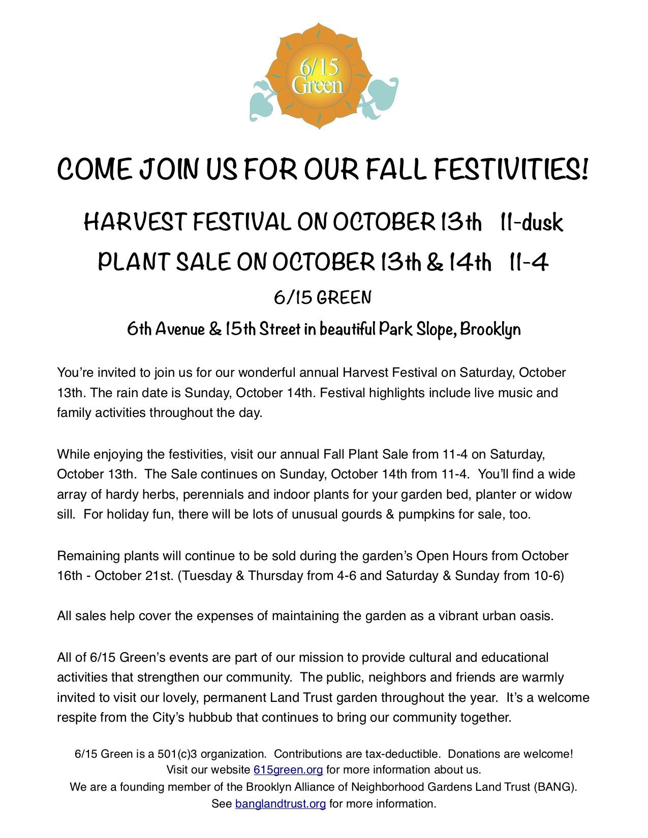 2018 Fall Plant Sale & Harvest Fest PR for website v2 j